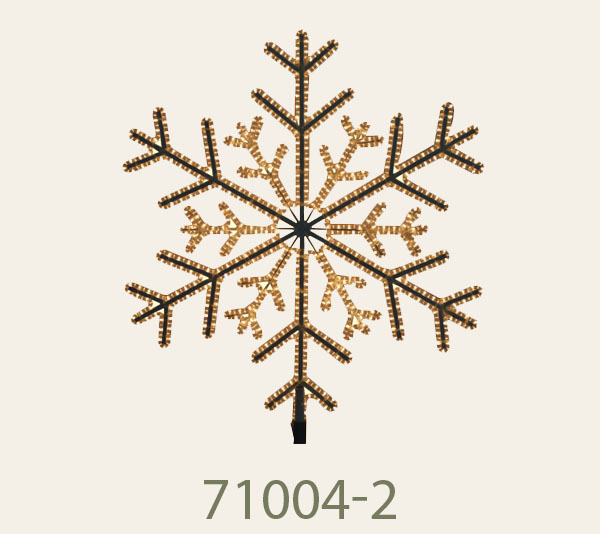 71004-2 Dimension1m.<br/>Snowflake with LED loop light