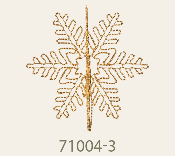 71004-3 Dimension1m.<br/>4D Snowflake with LED loop lig